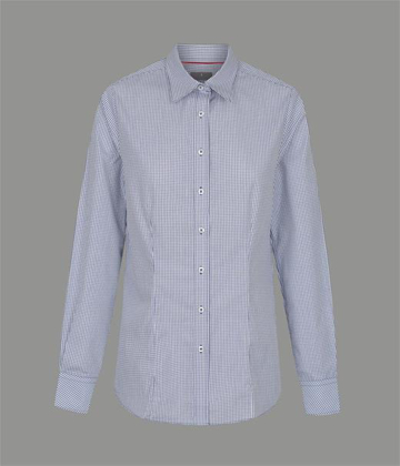 Picture of Gloweave-1895WL-WOMEN'S MICRO CHECK LONG SLEEVE SHIRT-FAWKNER