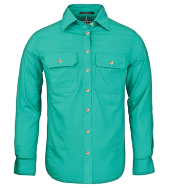 Picture of Ritemate Workwear-RM600BT-Open Front Women's Pilbara Shirt