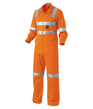 Picture of King Gee-K51015-Hi-Vis Reflective Combination Drill Overall Cross Pattern