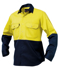 Picture of King Gee-K54015-Hi-Vis Spliced Drill Shirt L/S