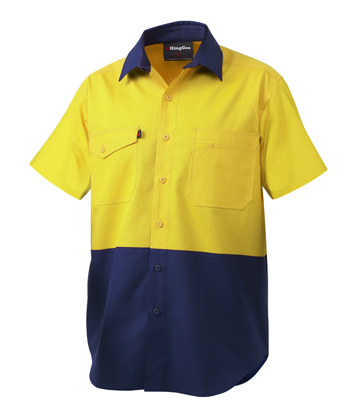 Picture of King Gee-K54875-Workcool 2 Spliced Shirt S/S