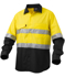 Picture of King Gee-K54880-Workcool 2 Hi-Vis Reflective Spliced Shirt L/S