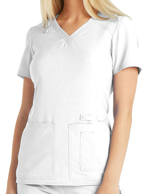 Picture of CHEROKEE-CH-CK605-Cherokee iflex Women's V-Neck Knit Panel Top