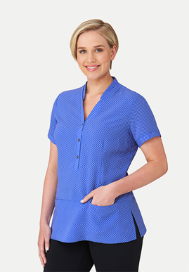Picture of City Collection-2174-City Stretch® Spot Short Sleeve Tunic