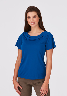 Picture of City Collection-2227-Eva Knit Short Sleeve Blouse
