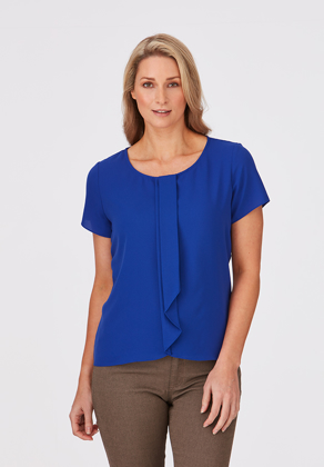Picture of City Collection-2285-Cascade Short Sleeve Blouse