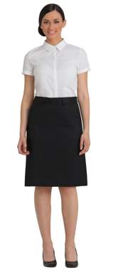 Picture of Corporate Comfort-FSK33-992-Sorbtek Ladies Flexi Waist Aline Skirt