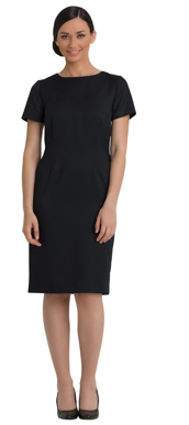 Picture of Corporate Comfort-FDR40-4060-Kate Wool Blend Short Sleeve Shift Dress