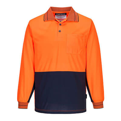 Picture of Prime Mover-MP113-Long Sleeve Micro Mesh Polo