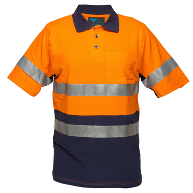 Picture of Prime Mover-MP618-Short Sleeve Cotton Pique Polo with Tape