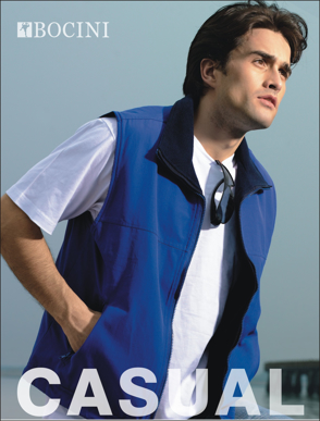Picture of Bocini-CJ0421-Unisex Adults Reversible Vest