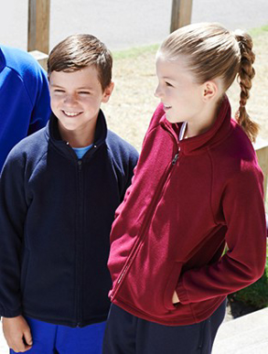 Picture of Bocini-CJ1428-Kids Polar Fleece Zip Through Jacket