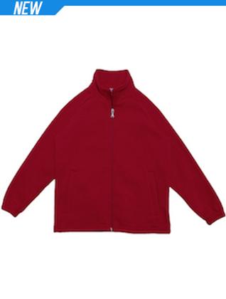 Picture of Bocini-CJ1585-Unisex Adults Poly/Cotton Fleece Zip Through Jacket