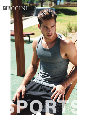 Picture of Bocini-CK1433-Men's Woven Running Shorts