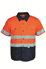 Picture of Bocini-SS1231-Unisex Adults Hi-Vis S/S Cotton Drill Shirt With Reflective Tape