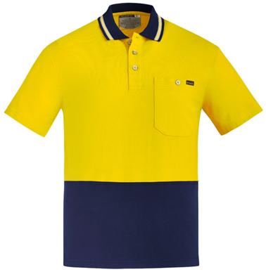 Picture of Syzmik Workwear-ZH435-Mens Hi Vis Cotton S/S Polo