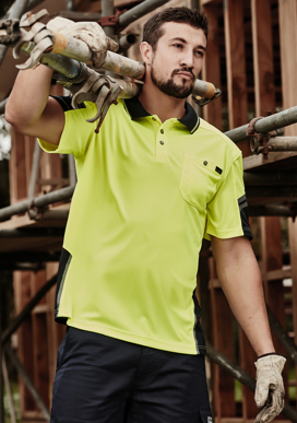 Picture of Syzmik Workwear-ZH465-Mens Reinforced Hi Vis Squad S/S Polo