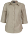 Picture of Identitee-W19(Identitee)-Ladies 3/4 Sleeve Ultra Cool Shirt with Twin Pockets