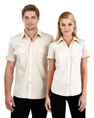 Picture of Identitee-W25(Identitee)-Ladies Short Sleeve Shirt with Pockets, Eppaulette & Tab on Sleeve