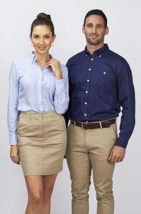 Picture of Identitee-W82(Identitee)-Mens Brody 100% Cotton Indigo Twill Stripe Shirt