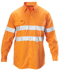 Picture of Hardyakka-Y07227-SHIRT DRILL WITH REFLECTIVE TAPE LONG SLEEVE