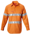 Picture of Hardyakka-Y07899-HI VIS CLOSED FRONT COTTON DRILL SHIRT W/3M TAPED LONG SLEEVE