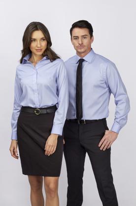 Picture of Identitee-W79(Identitee)-Ladies Kingston 100% Cotton Premium Traveller Business Shirt